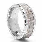 LASHBROOK DESIGNS Cobalt & Meteorite Wedding Band Crater