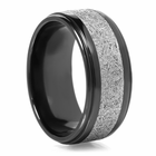 LASHBROOK DESIGNS Black Zirconium & Meteorite Ring Navarro