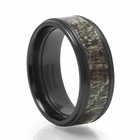 LASHBROOK DESIGNS Zirconium And Camo Wedding Band