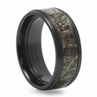 LASHBROOK DESIGNS Zirconium And Camouflage Wedding Band Bear