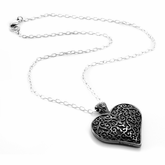 LATTICE Black Titanium Heart Necklace by Edward Mirell
