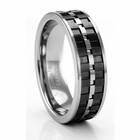 LORENZO Tungsten and Carbon Fiber Ring by ArtCarved