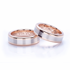 Matching Set of 18K Rose Gold & Palladium Wedding Bands by Coge
