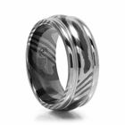 Mens 8mm Timoku Ridged Band by Edward Mirell