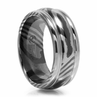 Mens 8mm Timoku Ridged Band