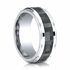 Mens 9mm Cobalt Ring With Carbon Fiber Inlay