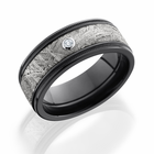 Meteorite & Zirconium Diamond Ring -  Vesta by Lashbrook