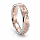 NEW BEGINNING Palladium, Rose Gold & Diamond Band by COGE