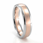 Palladium & Rose Gold Rounded Band