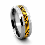 PANTHERA Tungsten and Mokume Gane Ring by Jewelry Innovations