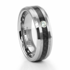 RAINE Tungsten and Carbon Fiber Ring with Diamond by TRITON