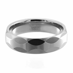 RHAPSODY Faceted Tungsten Ring by Jewelry Innovations