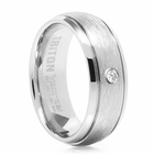 TRITON White Tungsten Wedding Band Ballast