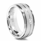 TRITON White Tungsten Wedding Band Beacon