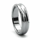 RIO Tungsten Wedding Band by Heavy Stone Rings