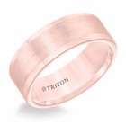 Rose Tungsten 8mm Flat Ring by Triton