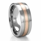 ROSSA Flat Tungsten & Rose Gold Ring by Heavy Stone Rings