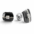 ROYALE Black Titanium and Diamond Cuff Links by Edward Mirell