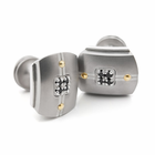 ROYALE Titanium and Black Diamond Cuff Links by Edward Mirell