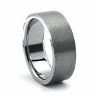 ROZZO Tungsten Wedding Band by Heavy Stone Rings
