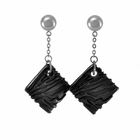 SAFARI Square Droo Titanium Earrings by Edward Mirell