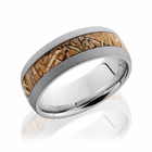 Sand Blasted Cobalt Ring With Kings Field Camo Inlay by Lashbrook