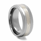 SIBERIAN Tungsten Mokume Gane Inlay Ring