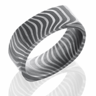 Square Damascus Steel Ring by Lashbrook Designs - TIGER