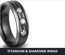 Titanium Diamond Rings