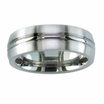 Titanium Matte Finish Band with High Polish Center