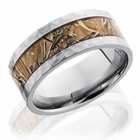 Hammer Finish Titanium Ring With Kings Field Camo by Lashbrook