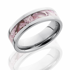 Titanium Ring With Pink Camo by Lashbrook Designs