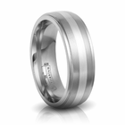 Titanium & Sterling Silver 7mm Band by Edward Mirell