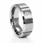 TRITON Tungsten Carbide Ring with Diamond