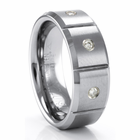 TRITON Tungsten Ring with Diamonds