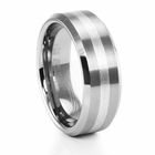 Tungsten Carbide & Sterling Silver Ring by TRITON