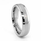 Tungsten Diamond Ring - TYSON by Heavy Stone Rings