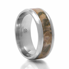 VENATOR  Titanium Camouflage Ring by Heavy Stone Rings