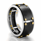 Williams Cobalt Chrome & Black Zirconium Ring by Heavy Stone Rings