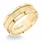 Yellow Tungsten 8mm Block Ring by Triton