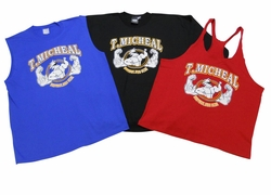 New- T. Micheal 3 Pack- 1 Stringer Tank Top, 1 Muscle Shirt, 1 Big Top - Style 107Pack