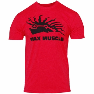 Max Muscle Premium Max Tee- RED HEATHER