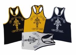 New- Gold's Gym Classic Logo Ringer Tank Top- #RT- 1