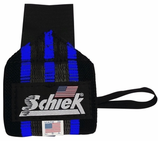 New- Schiek Heavy Duty Rubber Reinforced Blue Line Wrist Wraps