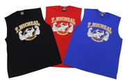 NEW- T. Micheal Printed Workout Muscle Shirt # 107D- Factory Direct