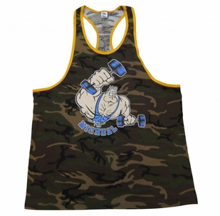 New- T. Micheal Ringer Camo Tank Top - #112B