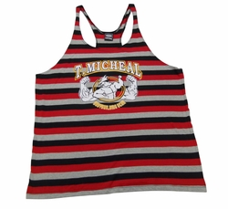 New-T. Micheal Striped Stringer Tank Top- Style 107B- Factory Direct
