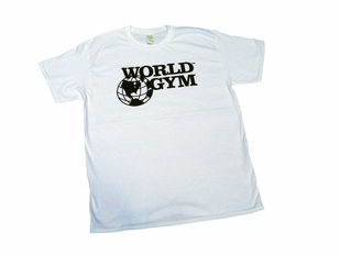 New- World Gym White Tee