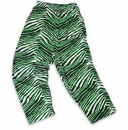 New- Zubaz Pants: Black/Neon Green Zubaz Zebra Pants
