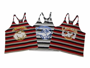 T. Micheal 3 Pack Crazy Striped Stringer Tank Tops